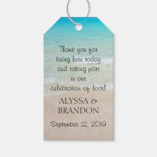 Tropical Ocean Wedding Thank You Favour Tags Pack Of Gift Tags