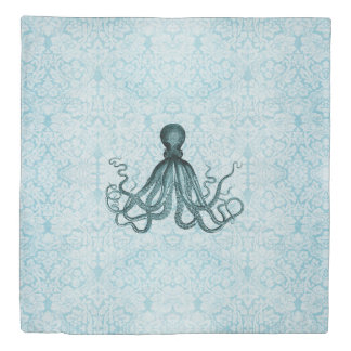 Tropical Octopus Bedding Duvet Cover