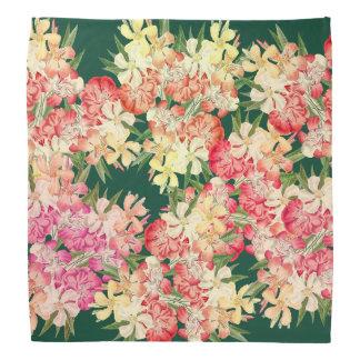Tropical Oleander Flowers Floral Botanical Bandana