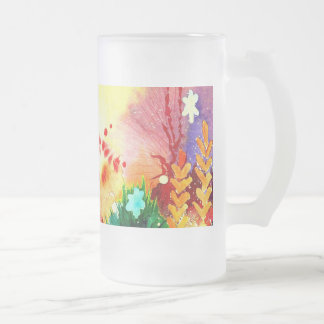 Tropical One. Frosted Glass Beer Mug
