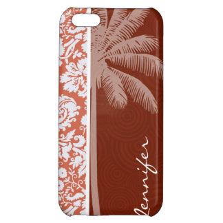 Tropical Orange Damask Case For iPhone 5C
