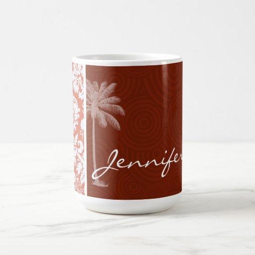 Tropical Orange Damask Mug