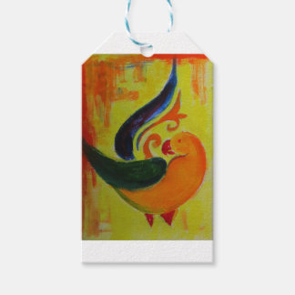 tropical orange pack of gift tags