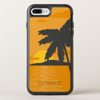 Tropical Orange Sunset & Palm Tree | Phone Case