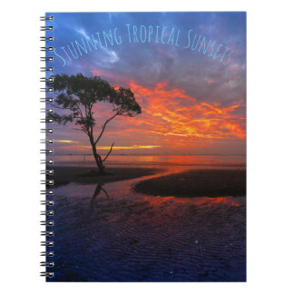 Tropical Orange Sunset Spiral Notebook