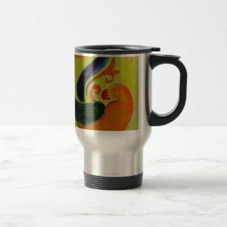 tropical orange travel mug