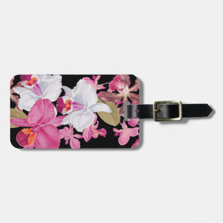 Tropical Orchid Flower Floral Luggage Tag