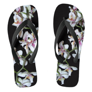 Tropical Orchid Flower Photography Flip Flops