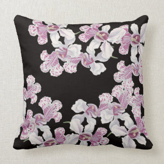 Tropical Orchid Flowers Floral Island Pillow