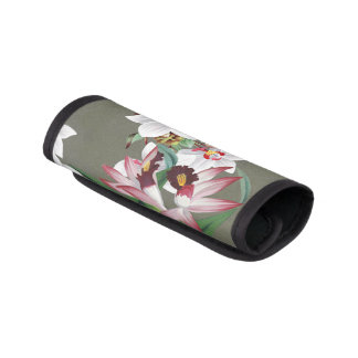 Tropical Orchid Flowers Floral Luggage Handle Wrap