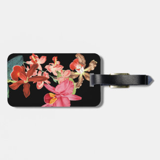 Tropical Orchid Flowers Floral Luggage Tag