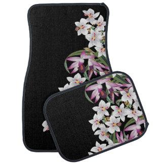 Tropical Orchid Flowers Islands Car Floor Mats