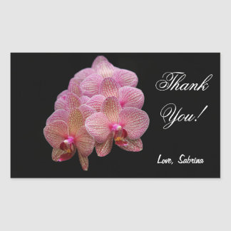 Tropical Orchid flowers Thank You Sticker