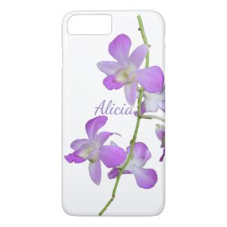 Tropical Orchid purple white iPhone 7 Plus Case