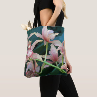 Tropical Orchids Floral Tote Bag