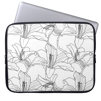 Tropical Outlines Laptop Sleeve