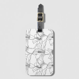 Tropical Outlines Luggage Tag
