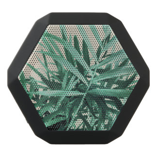 Tropical Palm Black Bluetooth Speaker