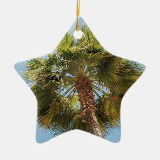 Tropical palm ceramic star ornament
