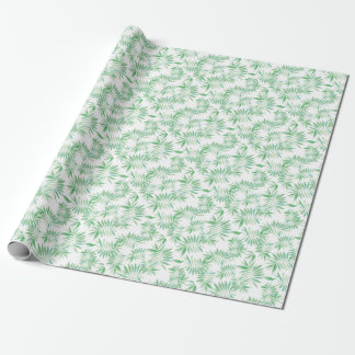 Tropical palm fern storm wrapping paper