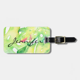 Tropical Palm Frond Tropical Luggage Tag