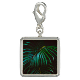 Tropical Palm Leaf Calm Green Minimalistic Charms