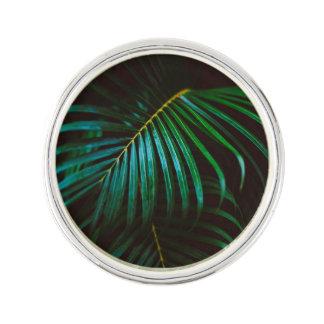 Tropical Palm Leaf Calm Green Minimalistic Lapel Pin