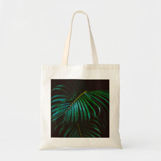 Tropical Palm Leaf Calm Green Minimalistic Tote Bag