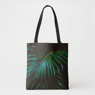 Tropical Palm Leaf Calm Green Minimalistic Tote Bag