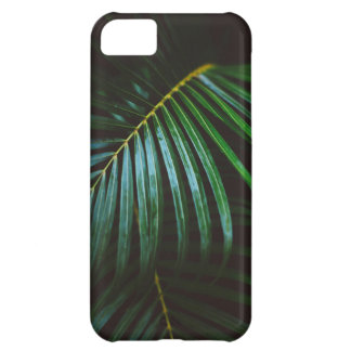 Tropical Palm Leaf Calming Green, Meditative iPhone 5C Cases
