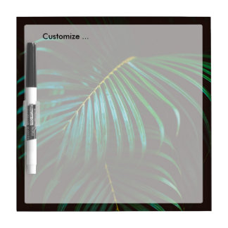 Tropical Palm Leaf Relaxing Green Calming Dry Erase Board