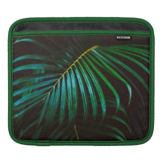 Tropical Palm Leaf Relaxing Green Calming iPad Sleeve