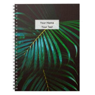 Tropical Palm Leaf Relaxing Green Calming Spiral Notebook