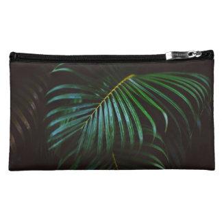 Tropical Palm Leaf Relaxing Green Meditative Makeup Bag