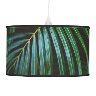 Tropical Palm Leaf Relaxing Green Meditative Pendant Lamp