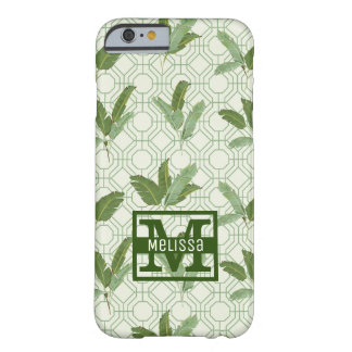 Tropical Palm Leaves | Add Your Name Barely There iPhone 6 Case