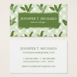 Tropical Palm Leaves | Add Your Name Business Card
