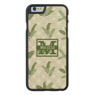 Tropical Palm Leaves | Add Your Name Carved® Maple iPhone 6 Slim Case