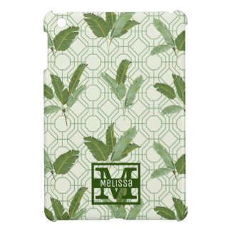 Tropical Palm Leaves   Add Your Name Case For The iPad Mini