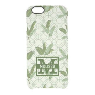 Tropical Palm Leaves | Add Your Name Clear iPhone 6/6S Case