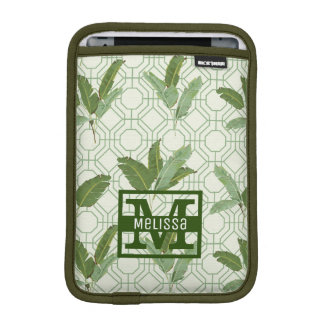 Tropical Palm Leaves | Add Your Name iPad Mini Sleeve