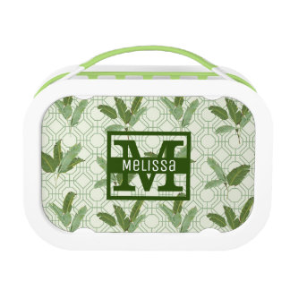 Tropical Palm Leaves | Add Your Name Lunchboxes