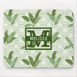 Tropical Palm Leaves | Add Your Name Mouse Pad