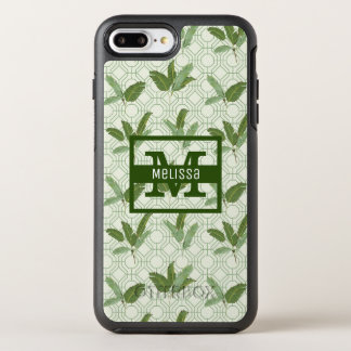 Tropical Palm Leaves | Add Your Name OtterBox Symmetry iPhone 7 Plus Case