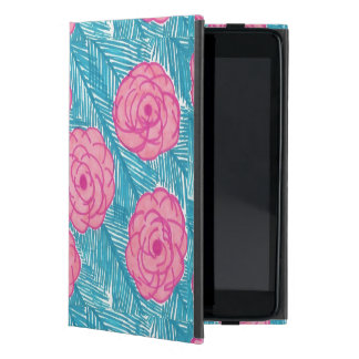 Tropical Palm Leaves and Flowers iPad Case