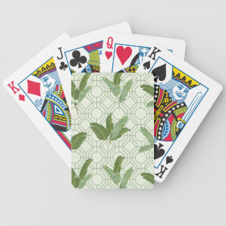 Tropical Palm Leaves Bicycle Playing Cards