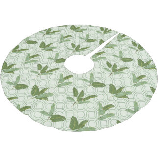 Tropical Palm Leaves Brushed Polyester Tree Skirt