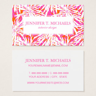 Tropical Palm Leaves Business Card