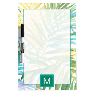 Tropical Palm Leaves Dry Erase Board