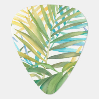 Tropical Palm Leaves Guitar Pick